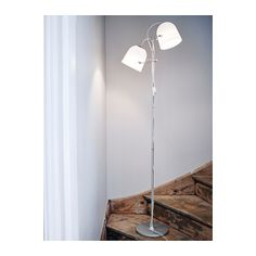 SVIRVEL Floor lamp with 2 shades  - IKEA - $39.99