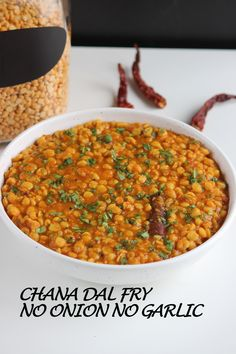 Chana Dal Fry is healthy, nutritious and comforting dish. It is delicious, easy to make, vegan, rich in protein and very satisfying. Dal Fry, Dal Recipe, Rich In Protein, Garlic Recipes, Diabetic Friendly, Chana Masala, Instant Pot, Onion, Fries