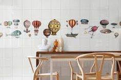 Hot air balloons by ceramiche bardelli fornasetti