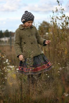 Wool tweed + folk.  Is it weird that I like to take fashion inspiration from children's clothing?  Probably.