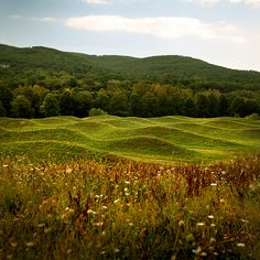 Maya Lin - Wave Field, at the Storm King Art Center. Storm King Art Center is widely celebrated as one of the world's leading sculpture park. Located in New Windsor, NY. Landscape Art, Landscape Architecture, Landscape Design, Maya Lin, Storm King Art Center, Parks, Voyage Europe, Built Environment, Environmental Art