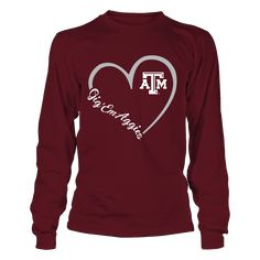 buy popular 2633b 7605a Texas A M Aggies - Heart 3 4