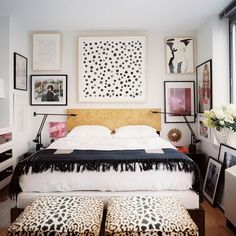 headboard, frames, animal foot stools