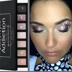 Moodstruck Addiction Palette #3 By Younique get this look here.  www.youniqueproducts.com/kirstiesfablashes