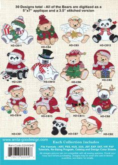 Anita Goodesign | Minky Christmas Bears - Anita Goodesign