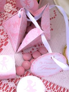Ballerina birthday party candy favors!  See more party planning ideas at CatchMyParty.com!