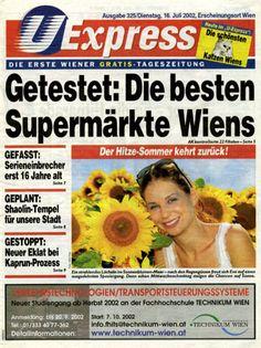 U-Express (2001-2004) Vienna (Austria) Newspaper Cover, Vienna Austria, Free, Kaprun