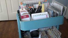 Ikea Raskog cart for project life setup.