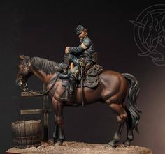 US Cavalry sergeant. Military Figures, Military Diorama, Military Art, Diorama Militar, Civil War Art, Military Modelling, Boris Vallejo, Le Far West, Aikido