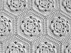 Rennes Matelassé Afghan 2 by Priscillas Crochet, via  Flickr & Ravelry.  Matelassé Afghan Collection, 15 counterpane patterns.  http://priscillascrochet.net