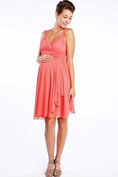 89e8f0e54fc34 Ruffle Wrap Dress by Maternal America Maternity Bridesmaid Dresses