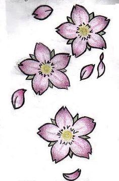 Blossom designs cherry blossom design my cherry blossoms colored by cherry blossom tattoo designs on leg . Cherry Blossom Drawing, Cherry Blossom Petals, Cherry Flower, Blossom Trees, Japanese Flower Tattoo, Japanese Flowers, Flower Tattoo Designs, Flower Tattoos, Flower Drawing Tumblr