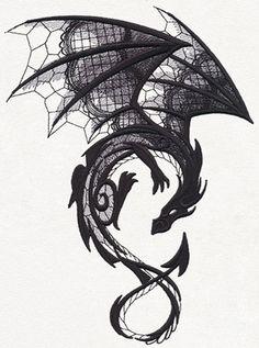1125855 Dark Creatures - Dragon design (UT11779) from UrbanThreads.com largest…