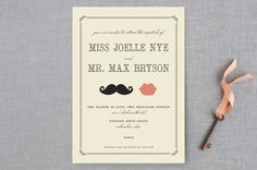 Stache + Kiss by Penelope Poppy at minted.com