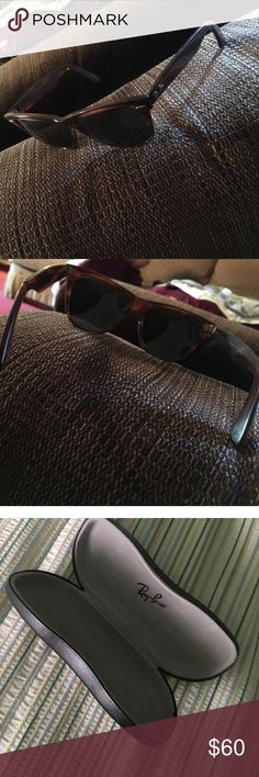 Ray-Ban Women Sunglasses 100% authentic ray ban women sunglasses. Only worn a few times. Just not my style. In great condition. comes with case. Will accept reasonable offers. Ray-Ban Accessories Sunglasses
