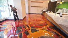 Marble floor in metallic epoxy - YouTube