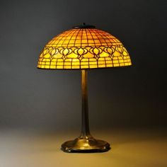 Tiffany Studios Pomegranate Table Lamp, Art glass and patinated bronze, New York, early 20th century