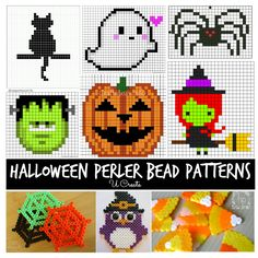 The perler beads were such a hit with my kids and many of you! I decided to share this version...Halloween...