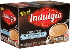 Indulgio French Vanilla Cappuccino Single Serve for Keurig KCup Brewers 12 Count Pack of 6 Compatible with 20 Keurig Brewers ** Check out the image by visiting the link. French Vanilla Cappuccino, K Cups, Keurig, Coffee Drinks, Gourmet Recipes, Counting, Brewing, Cravings, Packing
