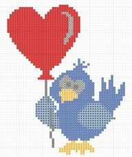 Uccelino con palloncino: