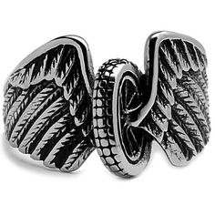 Stainless Steel Casted Biker Ring With Wings Sizes 9 to 15 Metal Masters Co.. $15.99. Surgical Stainless Steel 316. 30-Day Money Back Guarantee. Comes with a FREE Ring Box!!. Casted Biker Ring