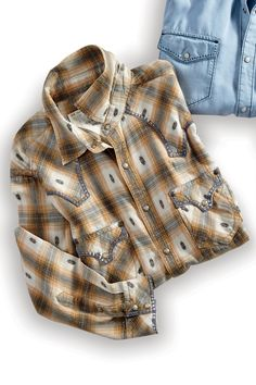 Ombre Dobby Plaid Shirt From Ryan Michael: Exceptional Casual Clothing for Men & Women from #TerritoryAhead $125.00