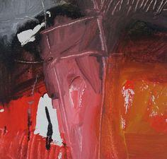 En Esencia. Aquí. Ahora   Pigmento, resina / lienzo 15×15 Proceso aditivo en un único sentido; negro, rojo, ocre, blanco.