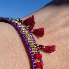 Boho alternative macrame bracelet funny special gift
