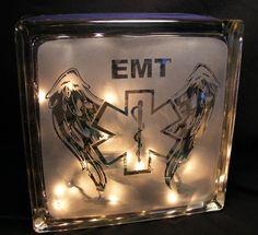 EMT+sandblasted+glass+block+light