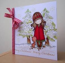 christmas cards made with gorjuss stamps Christmas Card Crafts, Christmas Love, Xmas Cards To Make, Winter Karten, Coffee Cards, Paper Artist, Winter Cards, Card Making Inspiration, Copics