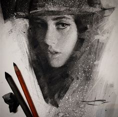 Love, love, love this charcoal drawing Casey Baugh Fine Art