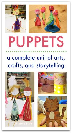 Five days of learning with puppets unit - puppet art project for elementary. Lesson plans for storytelling skills