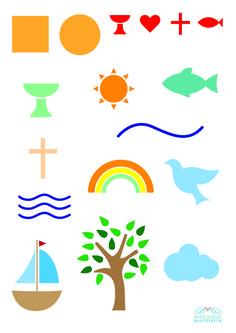 Symbole zur Taufe: Fische, Schiffe und der Baum des Lebens                                                                                                                                                     Mehr