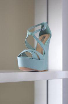 Light blue wedge