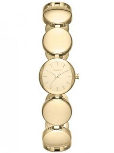 DKNY Ladies Gold Plated Watch NY8867. Be glamorous in gold with this DKNY bracelet watch. The stylish circle design is set in stainless steel and lavishly gold plated for an extra special finish.
