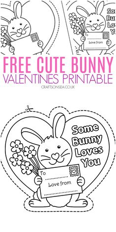 Practice scissor skills and colouring with this cute bunny Valentines activity Valentine's Day Crafts For Kids, Valentine Crafts For Kids, Educational Crafts, Educational Websites, Valentines Day Activities, Holiday Activities, Learning Shapes, Learning Spanish, Somebunny Loves You