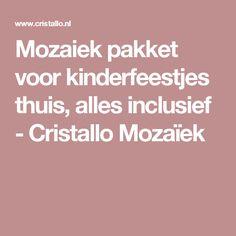 Mozaiek pakket voor kinderfeestjes thuis, alles inclusief - Cristallo Mozaïek