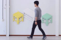 Designer Jongha Choi Creates Furniture That Collapses Into Two-Dimensional Art