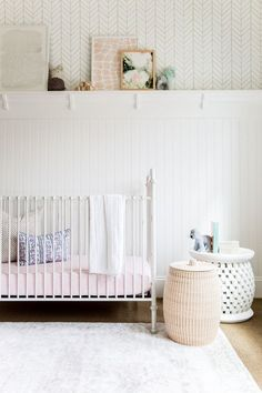 Baby Nursery Reavel: baby boy's nursery design ideas with eco-friendly baby furniture, modern gender neutral nursery decor + a whimsical woodland theme. White Nursery, Nursery Neutral, Nursery Room, Girl Nursery, Kids Bedroom, Kids Rooms, Nursery Decor, Baby Room, Bedroom Ideas