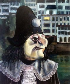 Basler Fasnacht, Painting combined with sewing.