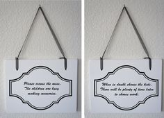 1 doublesided Sign  Home and Children Sayings by Frameyourstory