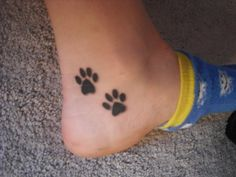 I want paw prints on my ankle or foot