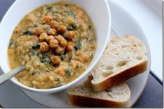 White Bean and Kale Veggie Stew with Crunchy Roasted Chickpeas. - Daily Garnish
