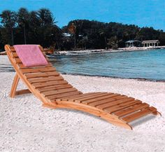 Folding Lounger Woodworking Pattern This attractive curved lounge chair is so comfortable, you'll want to take it everywhere with you...and you can because it's lightweight and quickly folds in half! #diy #woodcraftpatterns