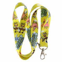 SpongeBob Lanyard Keychain Badge Holder Yellow | Balli Gifts