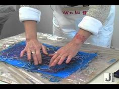 HOLY CATS -- Dye-na-flow for sunprinting WITHOUT special fabric.  ▶ Sun Print (Dye-Na-Flow Paints) - YouTube