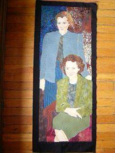 Jean Louise Emery Wallbridge & Mary Louise Imrie.First all-woman partnership, 1951-1979, Edmonton. Fabric art by Jan Hoekstra, Edmonton.