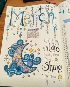 journal page drawing for the month of March Bullet Journal 2019, Bullet Journal Themes, Bullet Journal Layout, Bullet Journal Inspiration, Doodle Drawings, Easy Drawings, Doodle Art, Letras Comic, Sketch Note