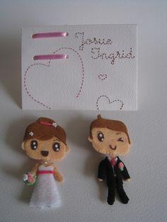 Sobre +Tarjeta Boda +Broche Pareja de Novios, Miniaturas y muñecas, Figuras en miniatura - www.annajois.es