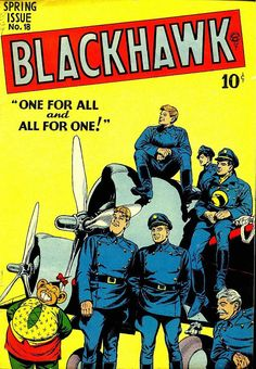 Comic Book Critic - Google+ - Blackhawk #18 (Spring '48) cover by Reed Crandall.